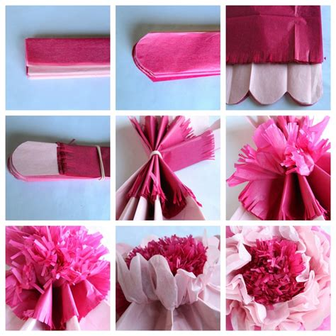 How To Make Flowers With Tissue Paper - how to make tissue paper flowers