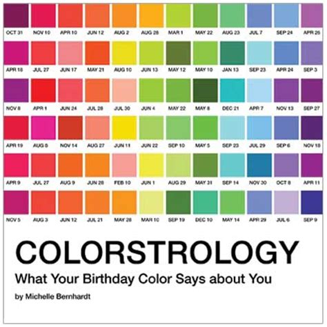 birth colors colorstrology what your birthday color says about you