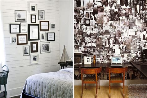 Decoupage On Walls - inspiring gallery walls house of hipsters