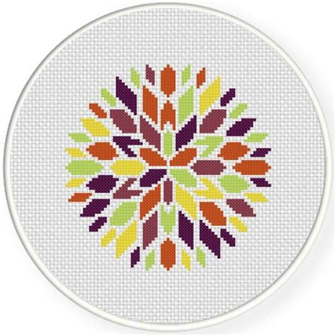 colorful stitches colorful bloom cross stitch pattern daily cross stitch