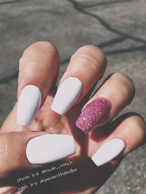nails matte matte white acrylic nails www imgkid the image kid