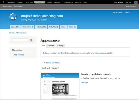 drupal themes administration how to change the administration theme in drupal 7