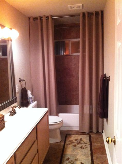 using regular curtains for shower 1000 ideas about two shower curtains on pinterest