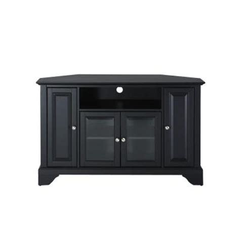 crosley lafayette corner tv stand in black kf10006bbk