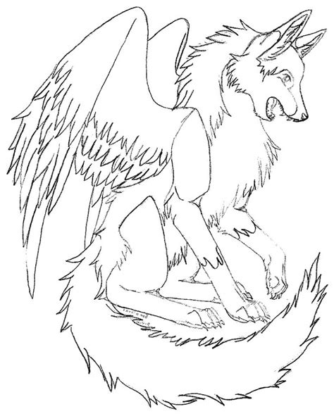 wolves coloring pages winged wolf coloring pages coloring home