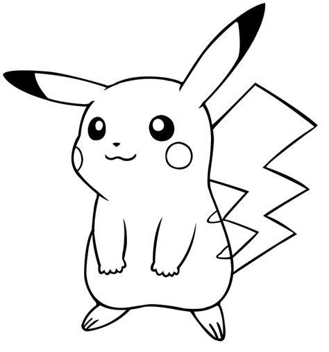 cute pikachu coloring pages free coloring pages of pikachu doing a cute pose