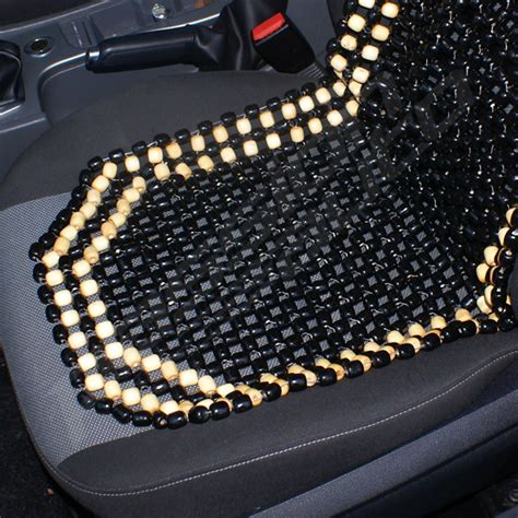 black wooden bead beaded car taxi front seat