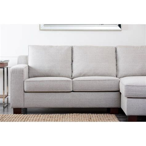 abbyson living sectional sofa abbyson living regina fabric sectional sofa in gray rl