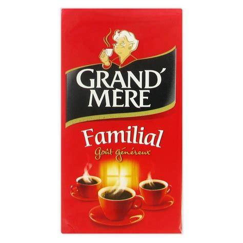 Café Moulu Grand'Mère Familial   Lot de 4 paquets   1 Kg   Grand'Mère