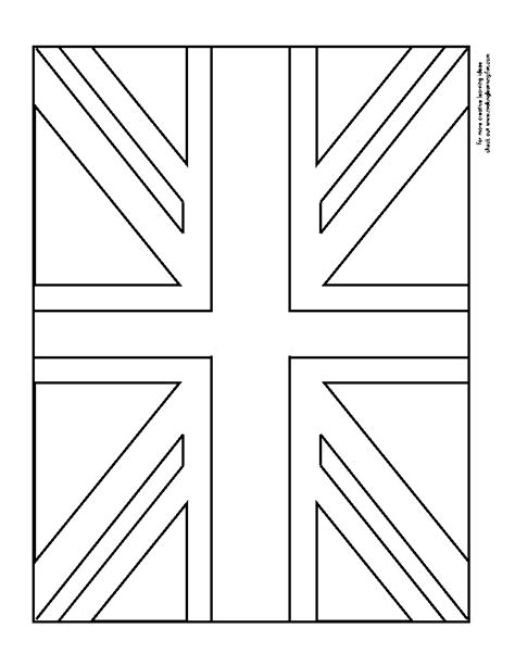 British Flag Coloring Pages Uk