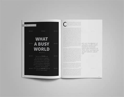 magazine layout minimal cultura minimal magazine template by bookrak graphicriver
