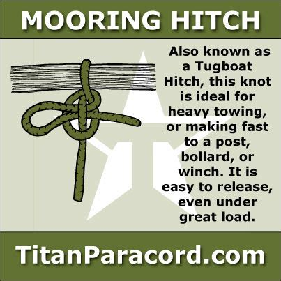 tugboat hitch the mooring hitch aka tugboat hitch or lighterman s hitch
