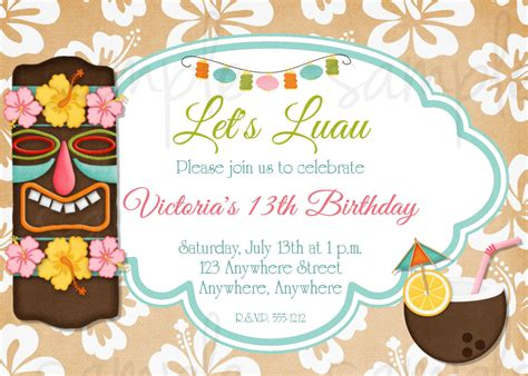 8 Best Images Of Tiki Party Invitation Free Printable Template Luau Party Invitation Templates Tiki Invitation Template