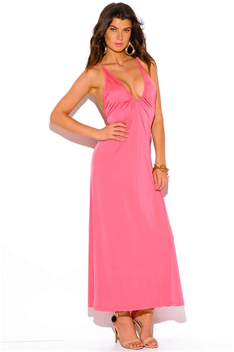 Rosey Maxi 1 shop rosey coral v neck criss cross backless formal