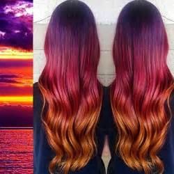 sunset hair color 25 best sunset hair ideas on colourful hair