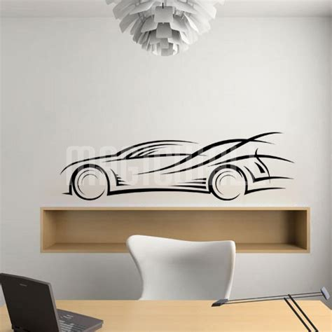 abstract wall stickers wall decals abstract race car wall stickers