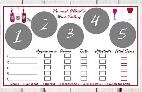wine tasting cards templates wine tasting place mats paper wine tasting placemats wine
