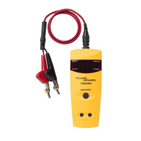 Bt Finder Fluke Networks Ts100 Pro Bt Tdr Cable Fault Finder Tdr Kit With Bridge Tap Detect At