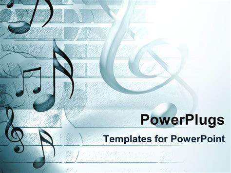 Powerpoint Template Lots Of Musical Note Symbols On A White Background 21010 Best Templates For Musicians