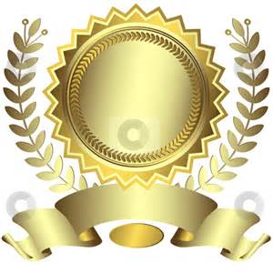 Silvery award with ribbon vector stock vector clipart silvery award