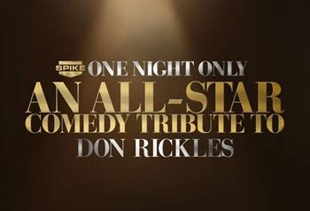 spike honors legendary comedy icon don rickles one night one night only an all star comedy tribute to don rickles