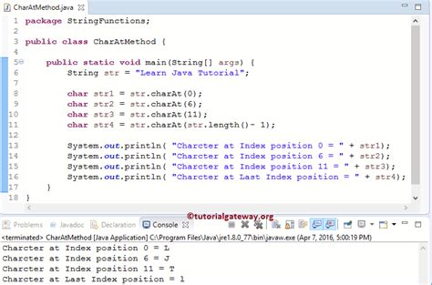 pattern java char java charat method