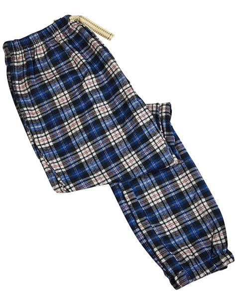 Plaid In Or Out by Bottoms Out Mens Flannel Plaid Lounge Pant White Royal