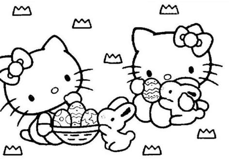hello kitty easter coloring pages to print hello kitty easter coloring pages to download and print