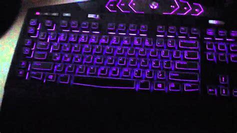 alienware light up keyboard alienware keyboard light show youtube