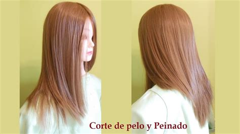 corte en v y degrafilado corte de pelo largo en capas paso a paso corte de pelo