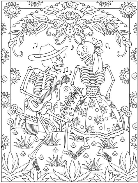 Welcome To Dover Publications Day Of The Dead Altar Coloring Pages