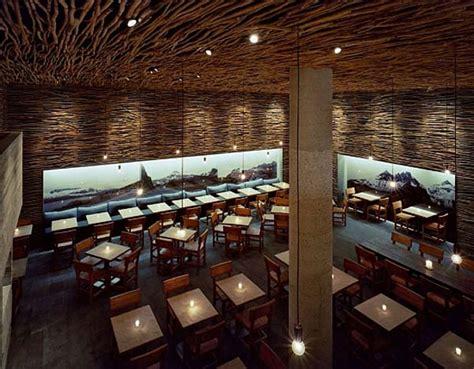 woodwork restaurant wonderful wood concrete and twigs restaurant design by