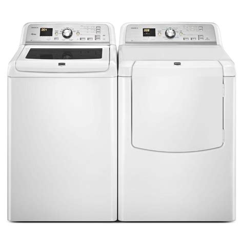 maytag bravos xl top load washer dryer which one price home depot