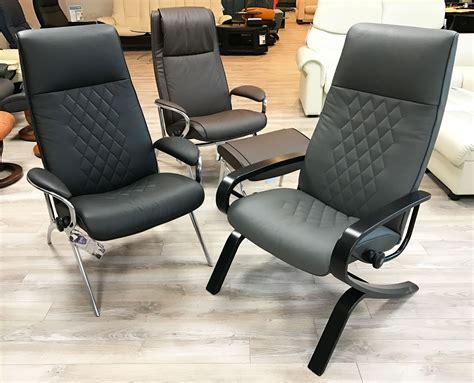 ekornes leather recliner stressless you james aluminum recliner chair in batick