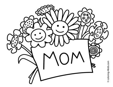mother s day coloring pages anyoneneeds