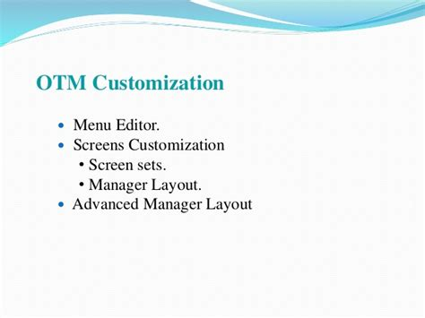 manager layout in otm oracle transport management