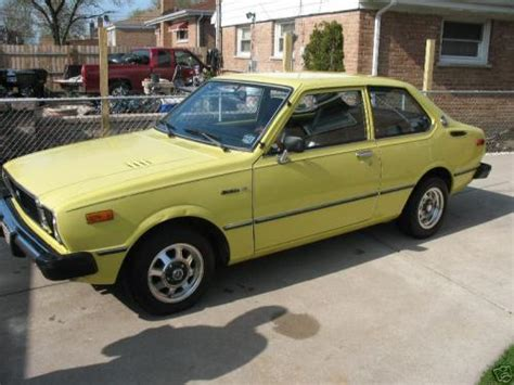 yellow toyota corolla toyota corolla in pure yellow 534 from 1976 1979 2