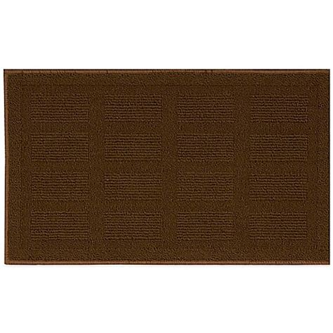 Nourison Grid Kitchen Rug Buy Nourison Grid 1 Foot 6 Inch X 2 Foot 6 Inch Kitchen Rug In Brown From Bed Bath Beyond