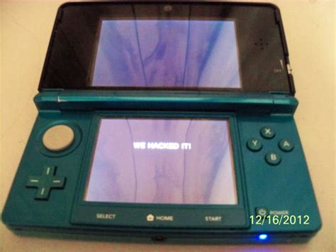 console hacker 3ds homebrew hacking progress noted console tiny