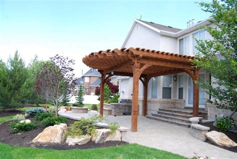 wood pergola with roof images more shade plan diy solid cedar wood cantilevered pergola
