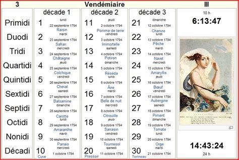Le Calendrier Republicain Aubusson D Auvergne Calendrier R 233 Publicain Fran 231 Ais Les