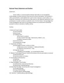 Exle Thesis Paper Outline by Thesis Statement And Research Outline