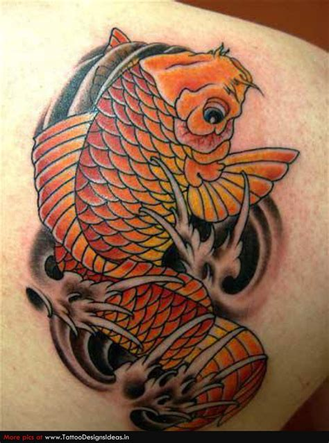 tatto ikan koi simpel simple tattoo design of koi for man tattoomagz