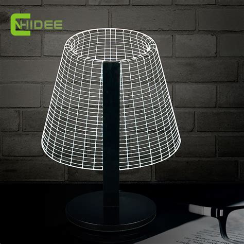 lat dimmable led desk l aliexpress com buy novel dimmable diy 3d light for