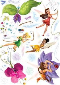 Disney Fairy Wall Stickers Disney Fairies Spiral Wings Tinkerbell Wall Stickers