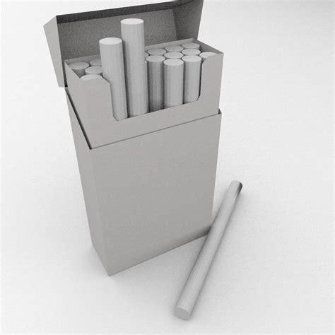 Blender Blended cigarette box 3d model 3ds fbx blend dae cgtrader