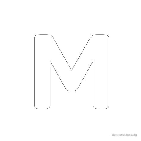 letter m template pics for gt letter stencils to print m