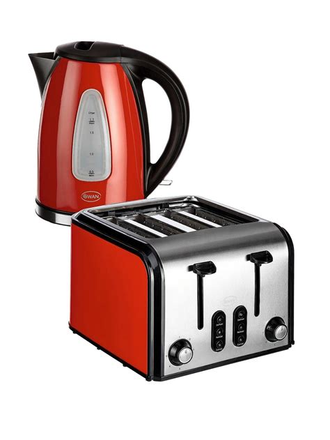 swan fastboil kettle and 4 slice toaster pack now 163 34 99