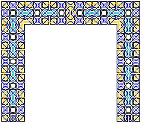 islamic pattern border islamic border design cliparts co