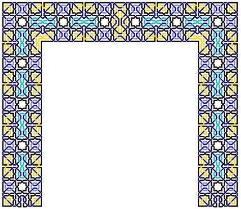 arabic pattern border islamic border design cliparts co